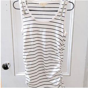 Micheal Kors Striped Sleeveless Shirt